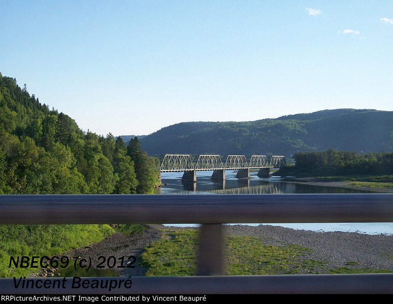 CN Railway Bridge crossing the Restigouche River.